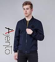Весенняя куртка мужская 12070 темно-синий 46