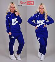 Костюм спортивный женский Nike с капюшоном Синий