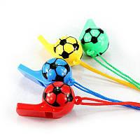 Свисток футбольный мяч (уп. 12 шт)