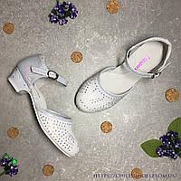Нарядные туфли для праздника для девочки со стразами 27 размер