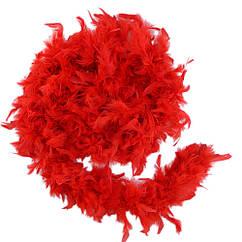 Боа из перьев 40г (красное) 1.5 метра