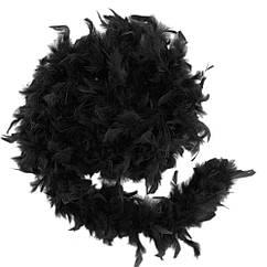 Боа из перьев 40г (черное) 1.5 метра