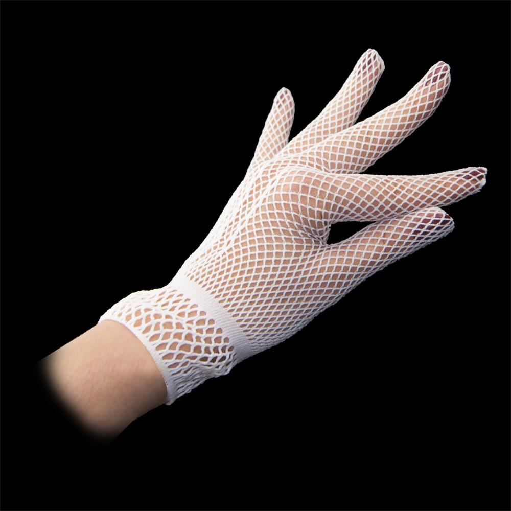 Перчатки Гламур короткие (белые)