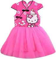 Детское розовое платье Hello Kitty, фото 1