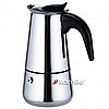 Гейзерная кофеварка 200мл из нержавеющей стали Kamille 0660
