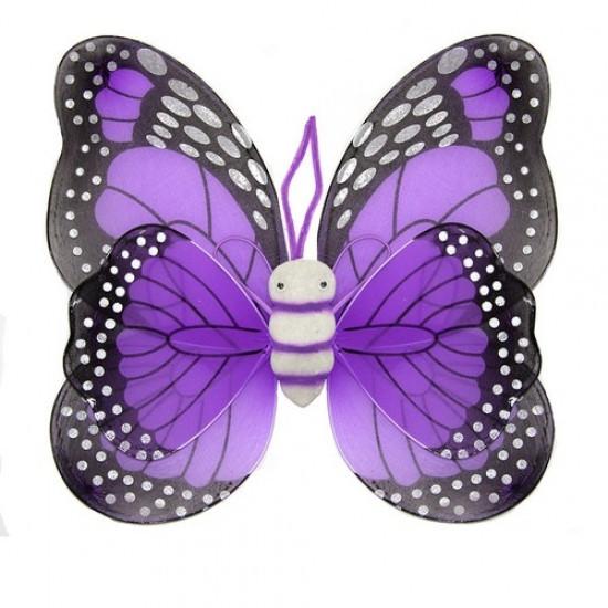Крылья Бабочки пятнистые (фиолетовые) 42х48см