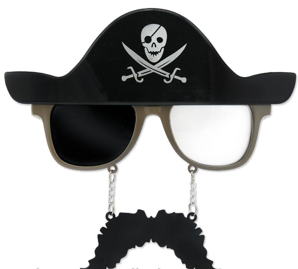 Очки с усами Пират