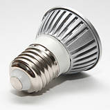 Лампа светодиодная E27 3Вт 6000К/3000K 220В, фото 2