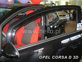 Дефлекторы окон (ветровики)  OPEL CORSA 3d 2006r→(HEKO)