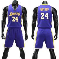 2d218ec3 Форма фиолетовая Kobe Bryant №24 (майка+шорты) Los Angeles Lakers