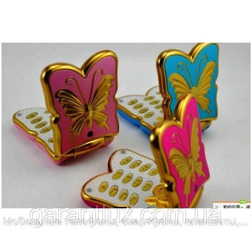 Телефончик раскладушка для девочек бабочка k 198 mini (2 сим карты) - Мобильные телефоны, смартфоны, планшеты, ювелирные весы, домофоны в Харькове