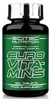 Scitec nutrition euro vita-mins, 120 табл