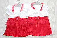 Детские нарядные платья с болеро турция 6-12 мес.