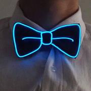 Светодиодная Led El бабочка светящийся галстук для вечеринок, пати