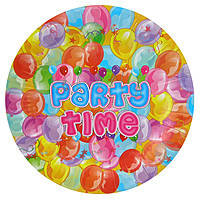 Бумажные тарелки диам.23см Party Time (уп. 10шт)