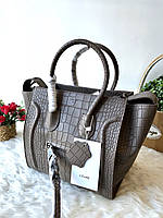 Женская сумка Celine кожа под крокодила (реплика), фото 1