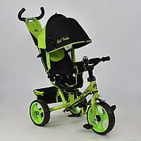 Трехколесный велосипед поворотное сиденье, ткань лен, EVA колеса 5700 - 4120,зеленый