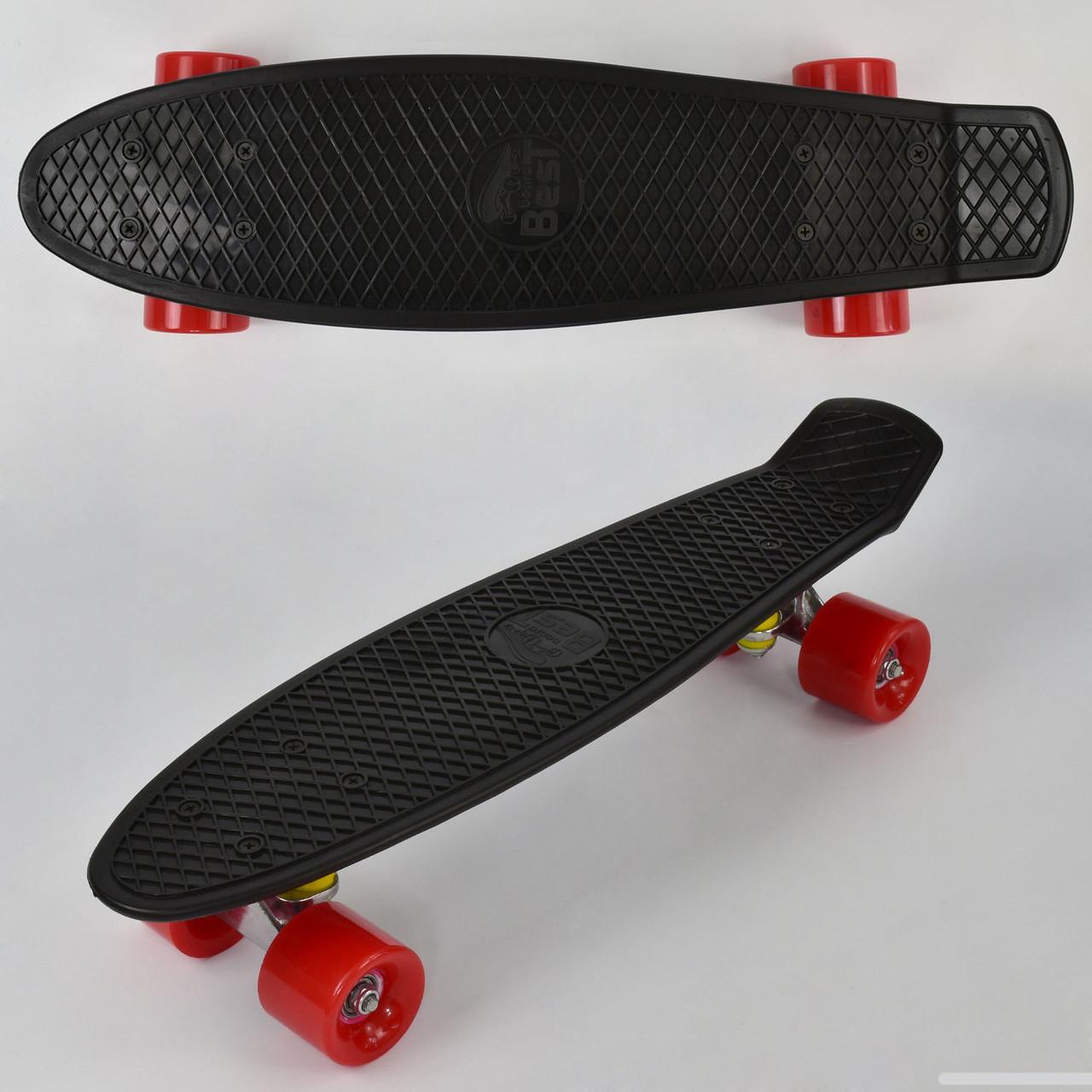 Скейт пенні борди 7807 ЧОРНИЙ, БЕЗ СВІТЛА, дошка=55см, колеса PU d=6см