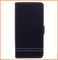 Кожаный чехол книжка YDT с функцией подставки для Huawei Y3 (2017) Black