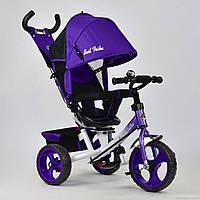 Трехколесный велосипед поворотное сиденье, ткань лен, EVA колеса 5700 - 4010, фиолетовый