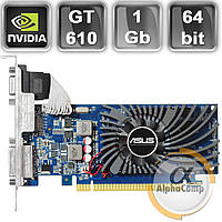 Видеокарта PCI-E NVIDIA Asus GT610 (1Gb/DDR3/64bit/DVI/VGA/HDMI) БУ