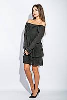 Платье женское до колена №19PG026 (Черный)