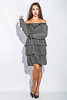 Платье женское до колена №19PG026 (Серый)