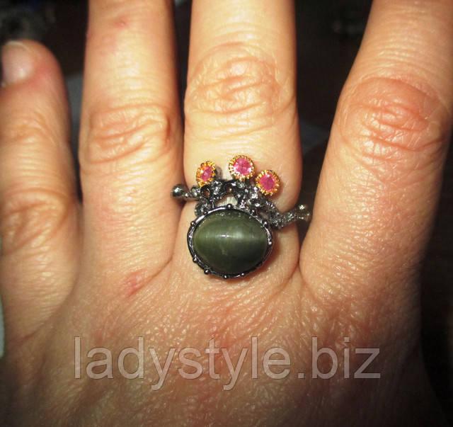 серебряное украшение подарок годовщина свадьбы кольцо сапфир купить