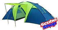 Палатка шестиместная Green Camp 1002, двухслойная (размеры 520х220х190 см), фото 1