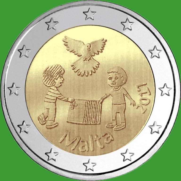 Мальта 2 евро 2017 г. Мир . UNC