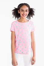 Летняя футболка с звездочками на девочку 9-10 лет C&A Германия Размер 134-140