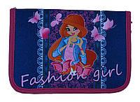 Пенал твердый Fashion girl 1 отдиления 2 отворота + расписание JO-18092