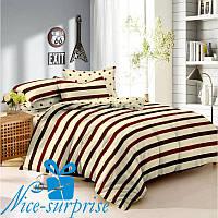 Еврокомплект постельного белья из сатина МАЛИБУ (200*220)