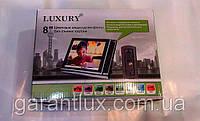 """Домофон LUXURY 806-B HD R2 JS с поддержкой SD карты памяти и  экраном 8"""" дюймовым Чёрный"""