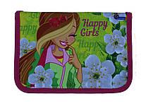 Пенал твердый Happy girl 1 отдиления 2 отворота + расписание SM-18172