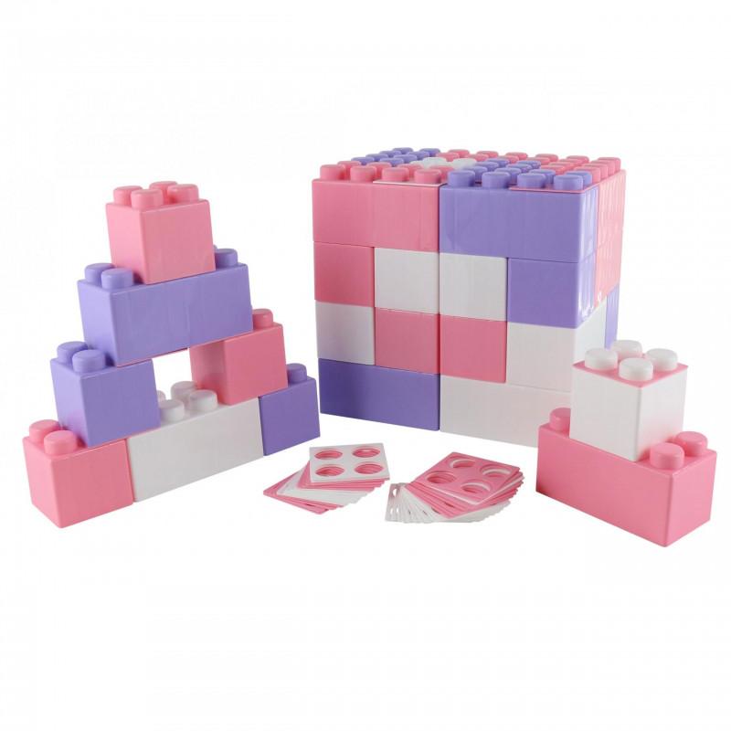 Конструктор строительный 45 блоков  XXL Wader 68071