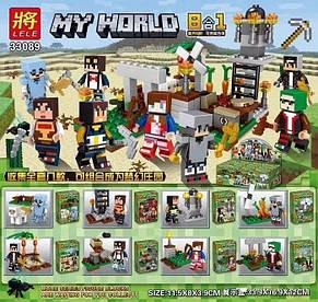 Конструктор Lele 33089 Майнкрафт минифигурки (аналог Lego Minecraft) БЛОК из 16 шт, фото 2