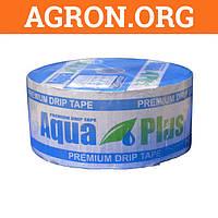 Капельная лента Аква Плюс AquaPlus 8 mil через 10 см 1 000 л в час щелевая 1 000 м