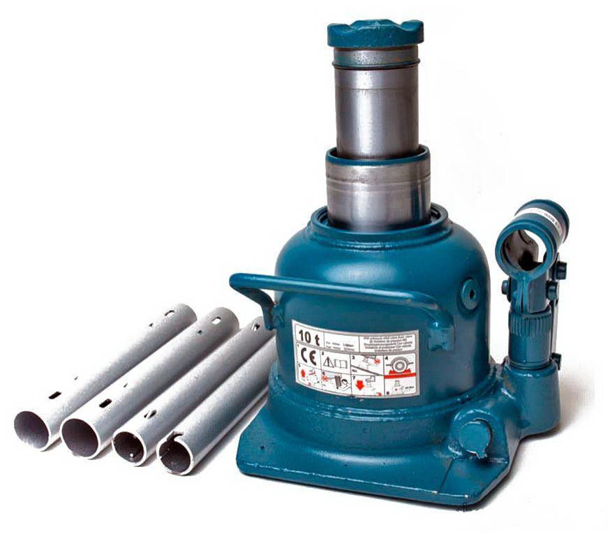 Домкрат бутылочный двухштоковый низкий 10 т 125-225 мм TORIN TH810002