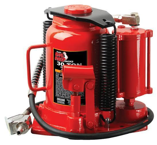 Домкрат бутылочный пневмо-гидравлический 30 т 250-405 мм TORIN TRQ30002