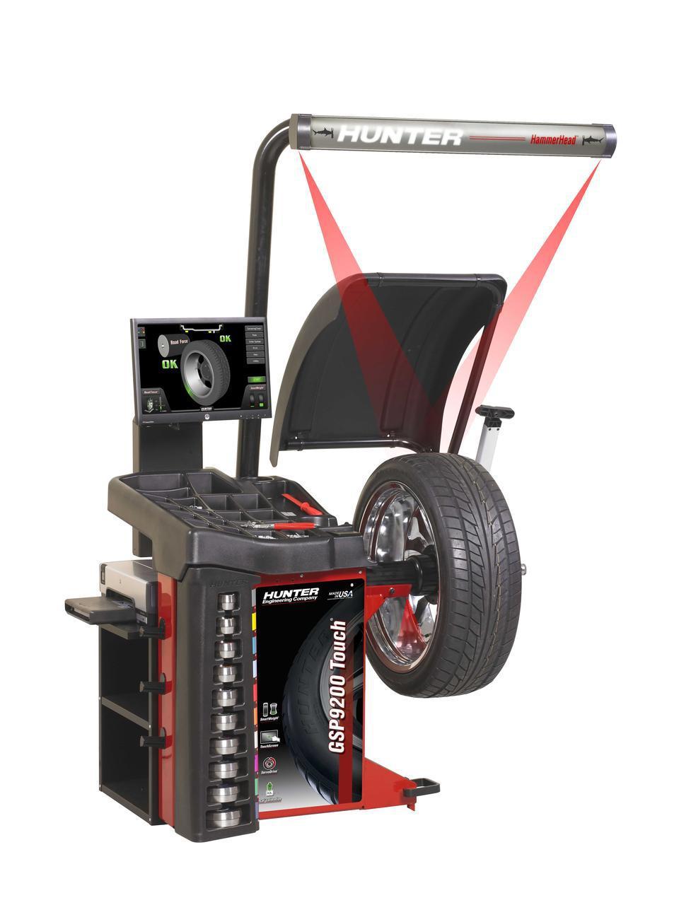 Балансировочный стенд Hunter GSP9222TOUCH с технологией SmartWeight