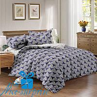 Семейный комплект постельного белья из сатина ГРАФИКА