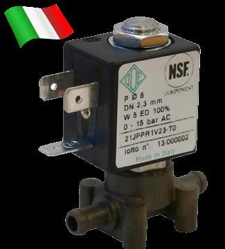 Электромагнитный клапан для воды 21JPP1R1V23 (ODE, Italy), под трубку, шланг