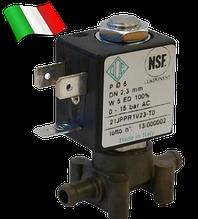 Электромагнитный клапан для воздуха, CO2, аргона 21JPP1R1V23 (ODE, Italy), под трубку, шланг