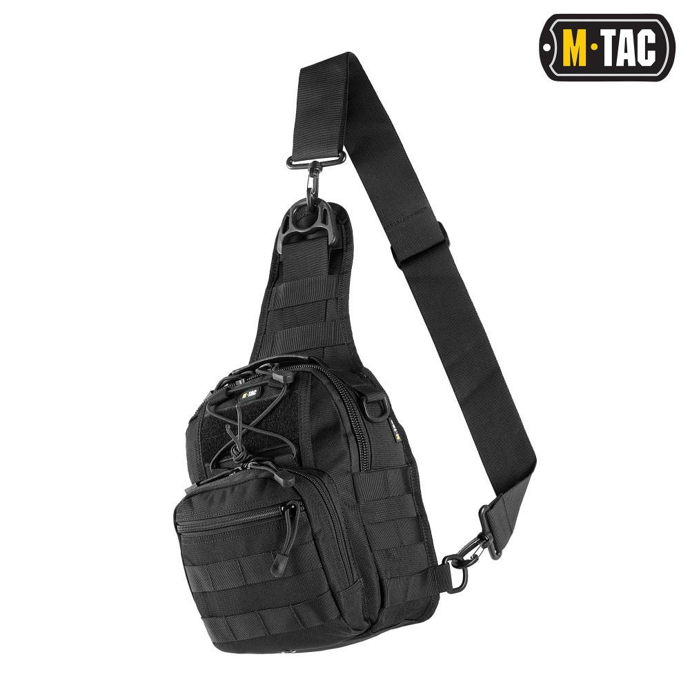 Однолямочна сумка-рюкзак CARABINER BLACK