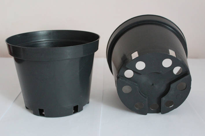 Горшок для рассады 2л,17x13см,черный,50шт\уп, фото 2