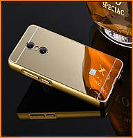 Металлический бампер Epik с акриловой вставкой с зеркальным покрытием для Xiaomi Redmi 5 Plus Gold