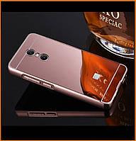 Металлический бампер Epik с акриловой вставкой с зеркальным покрытием для Xiaomi Redmi 5 Plus Rose Gold