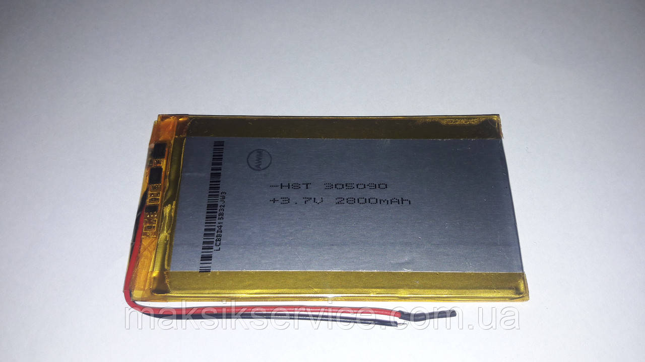 Аккумулятор для планшета 2800 мАч (90 x 50 x 3 мм)