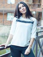 Женская блузка Леона белого цвета